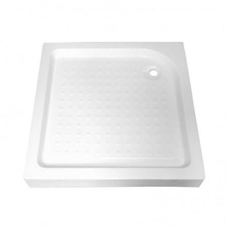 SXL02A white Brodzik kwadratowy 90x90 syfon 15cm głęboki wysoki