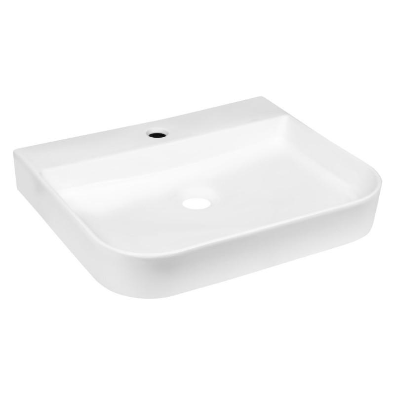 Umywalka nablatowa KERRA KR 43  prostokątna