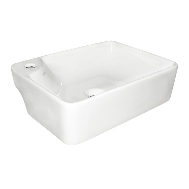 Umywalka nablatowa KERRA KR 44  prostokątna