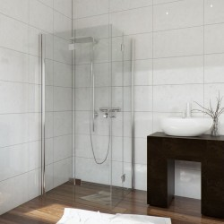 Kabina FRESH LINE kwadratowa FOLDEX 90x90x195 drzwi składane szkło transparentne     NOWOŚĆ*