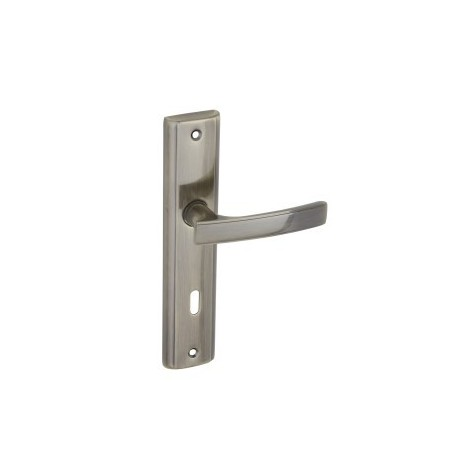 Klamka AURA na szyldzie długim pod klucz