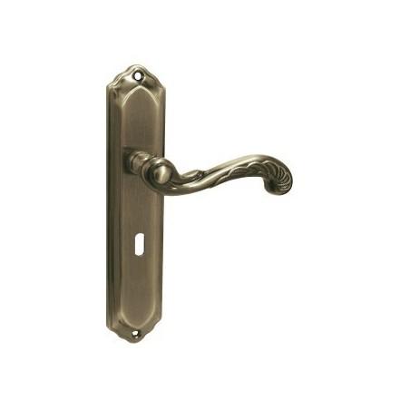 Klamka RETRO na szyldzie długim pod klucz