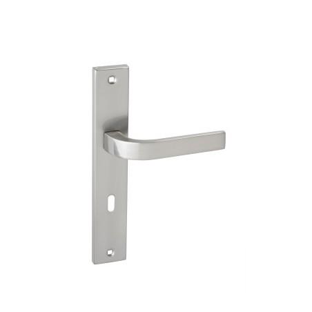 Klamka TIMOR na długim szyldzie na klucz