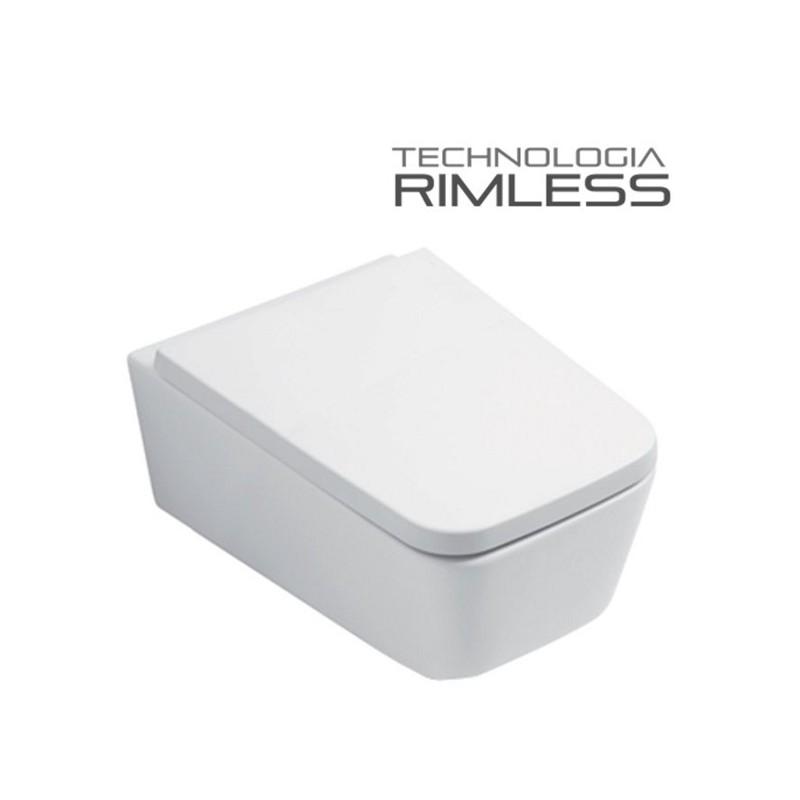 MUSZLA WC RIMLESS CUBIC + DESKA