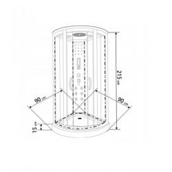 Kabina hydromasaż Hydrosan WSH-4407