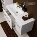 Szafka łazienkowa biała 90cm FOKUS z umywalką