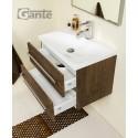 Szafka łazienkowa antyczne drewno 60cm FOKUS z umywalką + melinda