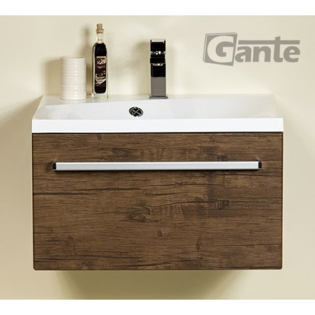 Szafka łazienkowa antyczne drewno 60cm FOKUS z umywalką Melinda