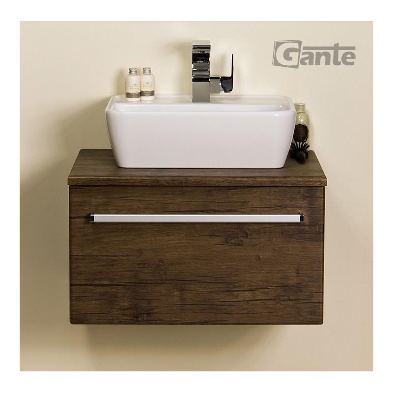 Szafka łazienkowa antyczne drewno 60cm FOKUS z umywalką VENO