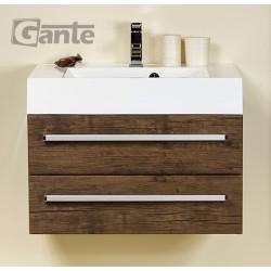 Szafka łazienkowa antyczne drewno 70cm FOKUS z umywalką UFKS