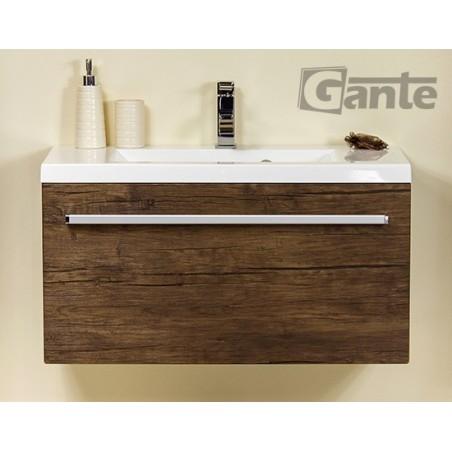 Szafka łazienkowa antyczne drewno 80cm FOKUS z umywalką Clever