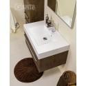 Szafka łazienkowa antyczne drewno 80cm FOKUS z umywalką