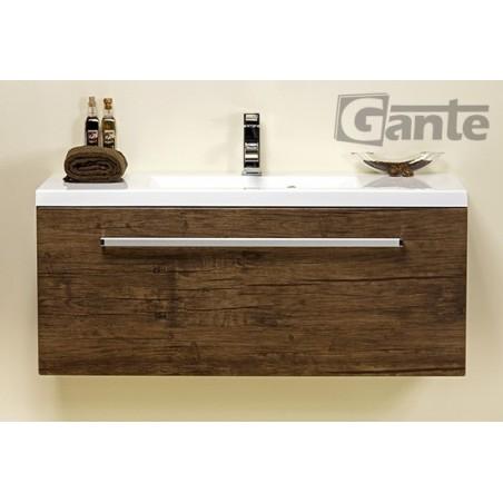 Szafka łazienkowa antyczne drewno 100cm FOKUS z umywalką clever