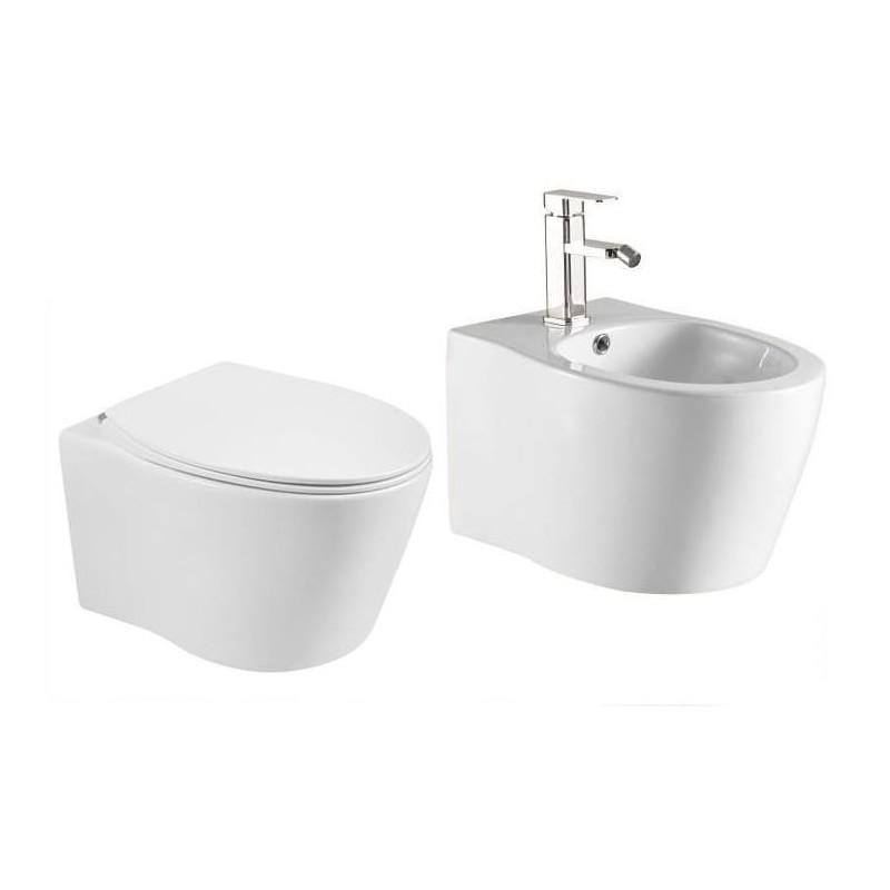 ALBA MISA WC + BIDET+ DESKA SLIM- ALBA