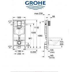 Zestaw podtynkowy GROHE + mata+przycisk
