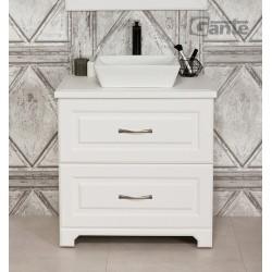 Szafka łazienkowa biała 70cm FINEA z umywalką