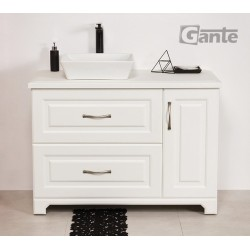 Szafka łazienkowa biała 100cm FINEA z umywalką