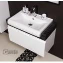 Szafka łazienkowa biała 80cm CASSINI z umywalką ceramiczną