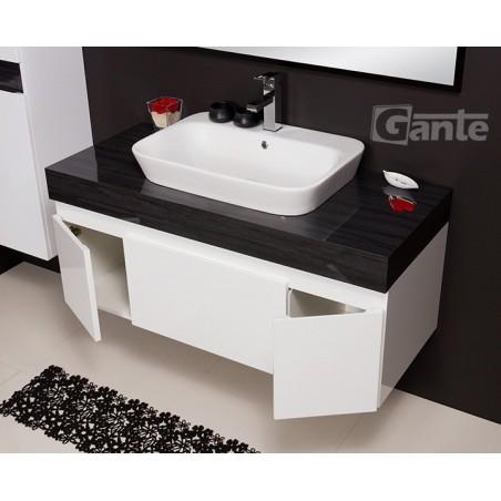 Szafka łazienkowa biała 120cm CASSINI z umywalką ceramiczną