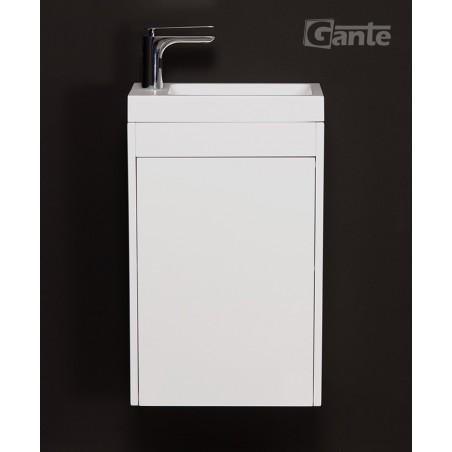 Szafka łazienkowa biała 40cm CLER LOFT z umywalką