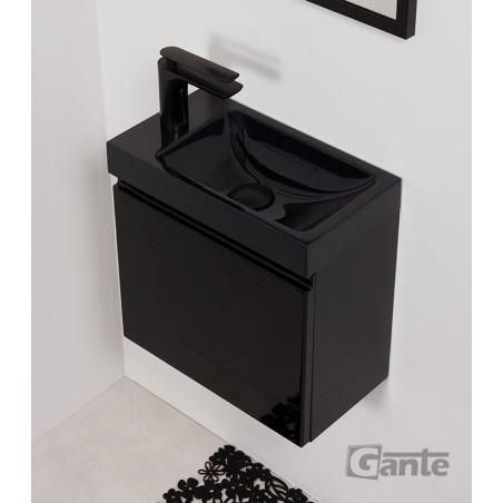 Szafka łazienkowa czarna 40cm CLER z umywalką