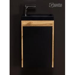 Szafka czarna 40cm CLER LOFT z umywalką