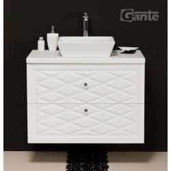 Szafka łazienkowa biała 80cm COBRA z umywalką ceramiczną