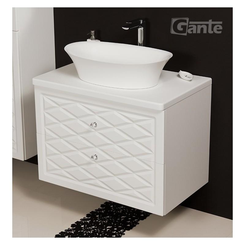 Szafka łazienkowa biała 80cm COBRA z umywalką FINI 600C