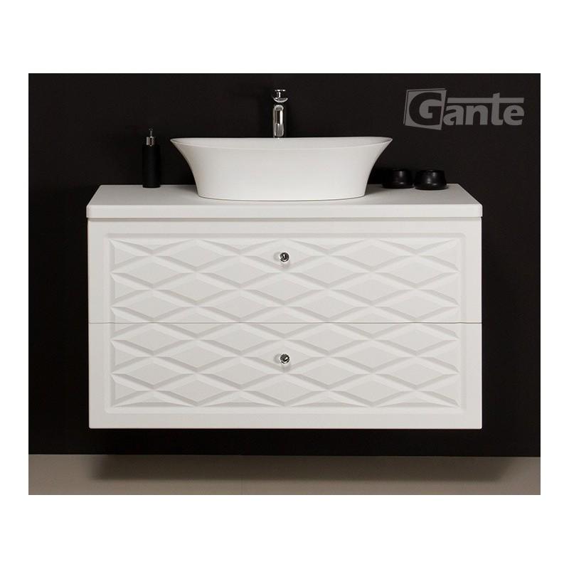 Szafka łazienkowa biała 103cm COBRA z umywalką