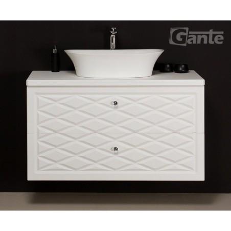 Szafka łazienkowa biała 103cm COBRA z umywalką FINI 600C
