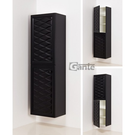 Regał łazienkowy czarny 45x155cm COBRA