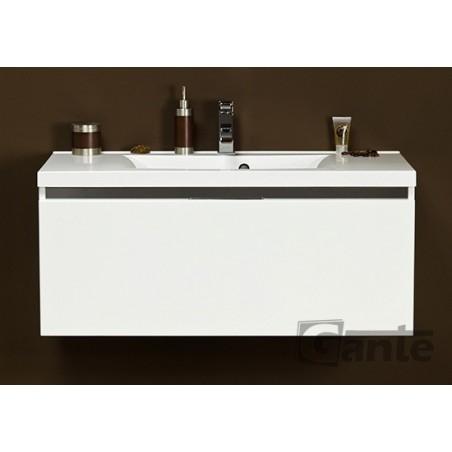 Szafka łazienkowa biała 100cm DIAMOND z umywalką