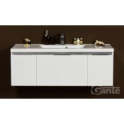Szafka łazienkowa biała 120cm DIAMOND z umywalką