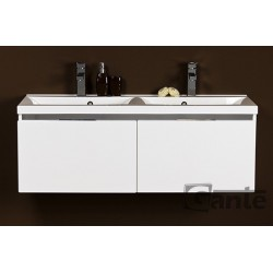 Szafka łazienkowa biała 120cm DIAMOND z umywalką podwójną
