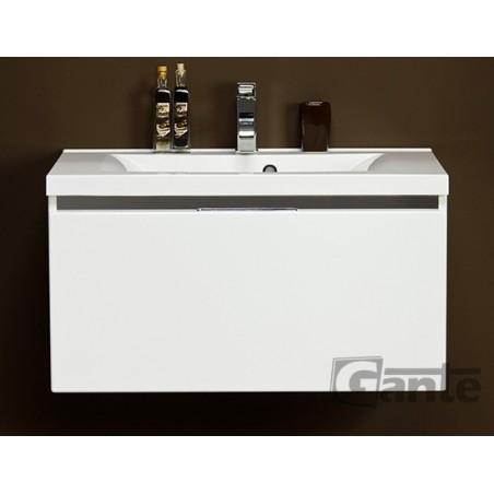 Szafka łazienkowa biała 80cm DIAMOND z umywalką