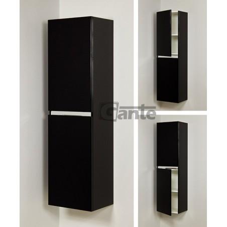 Regał łazienkowy czarny 40x143,5cm DIAMOND