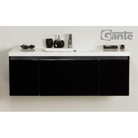 Szafka łazienkowa czarna 120cm DIAMOND z umywalką