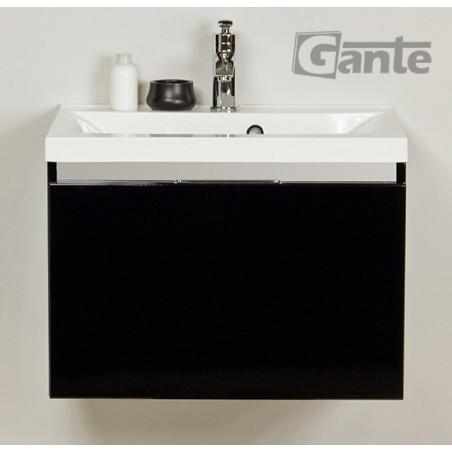 Szafka łazienkowa czarna 60cm DIAMOND z umywalką