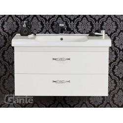Szafka łazienkowa biała 100cm ROYAL z umywalką