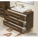 Szafka łazienkowa antyczne drewno 100cm FOKUS z blatem i umywalką liv