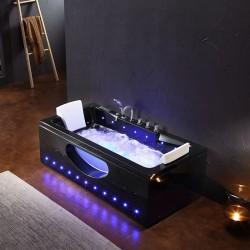 IRIS 933A Black 150×84 Wanna z hydromasażem