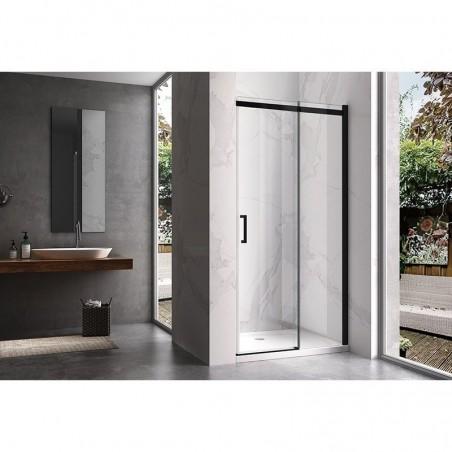 KZ09C Black 120cm drzwi prysznicowe przesówne