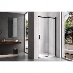 KZ09A Black 100cm drzwi prysznicowe przesówne