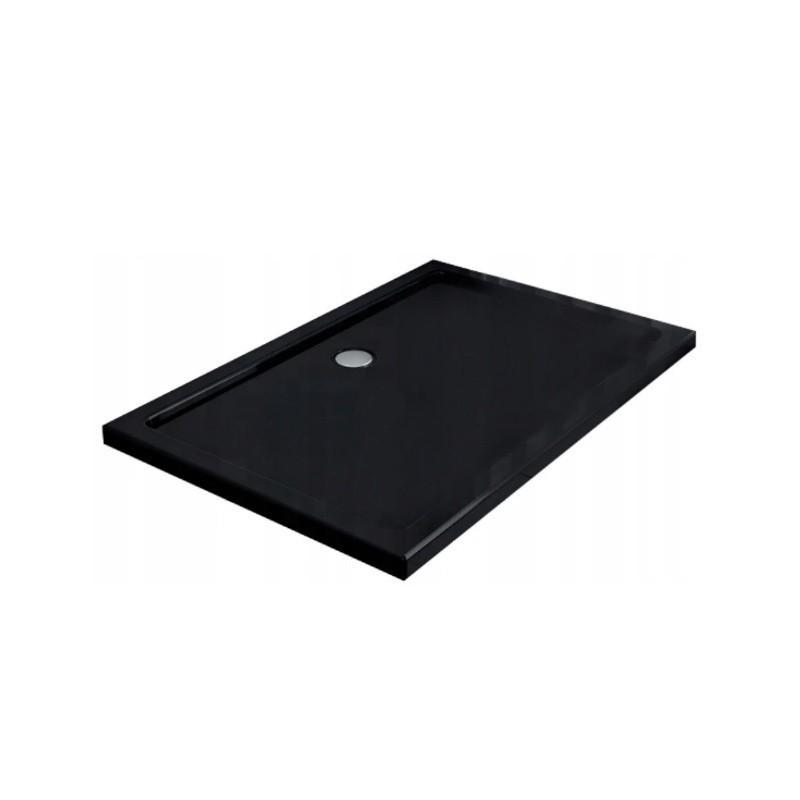 ST06C 120x100 BLACK Brodzik SLIM prostokątny