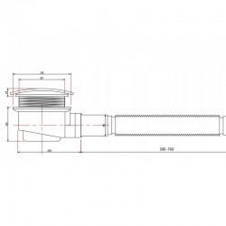ST05B 80x70 Brodzik prostokątny Biały