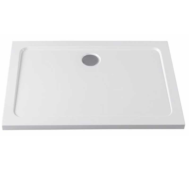 ST03B 110x80 Brodzik prostokątny Biały