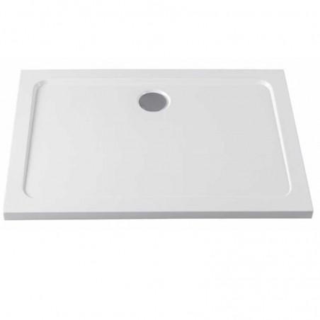 ST05A 100x70 Brodzik prostokątny Biały